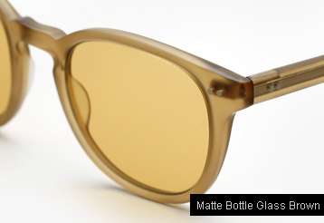 Garrett Leight Mckinley Sunglasses - Matte Bottle Glass Brown