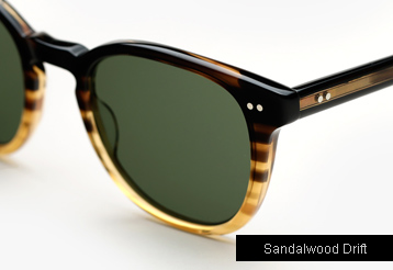 Garrett Leight Mckinley Sunglasses - Sandalwood Drift