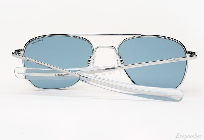 Randolph Engineering Aviator sunglasses - Bright Chrome with Blue Lenses