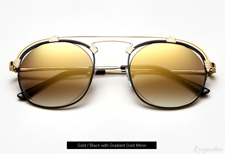 Spektre Coral sunglasses - Gold / Black with Gold Gradient Mirror