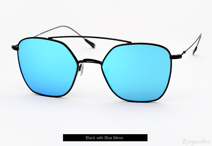 Spektre Dolce Vita sunglasses - Black w/ Blue Mirror