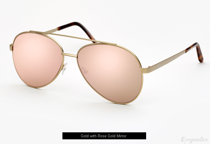 Spektre Domina sunglasses - Gold with Rose Gold Mirror