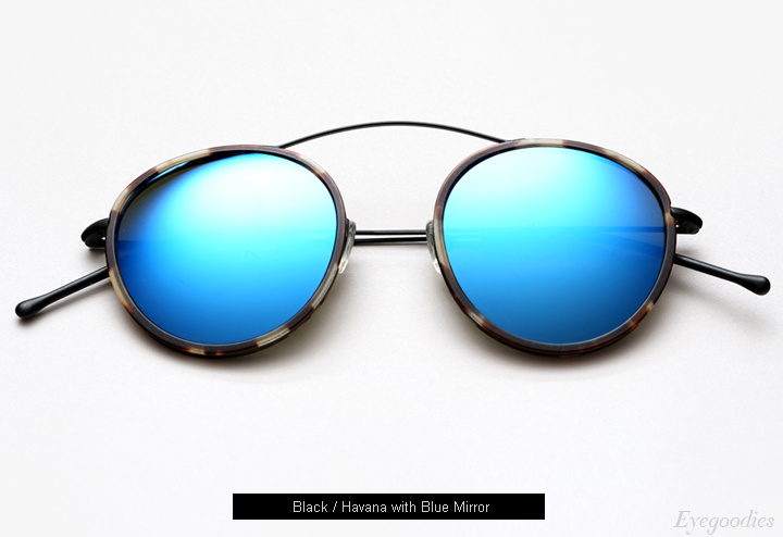 Spektre Met-Ro 2 sunglasses - Black / Havana w/ Blue Mirror