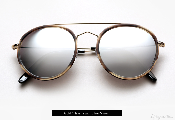 Spektre Vanni sunglasses - Gold / Havana with Silver Mirror